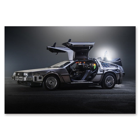 1Pc Delorean Car Time Machine Back To The Future Wall Art For Home & Office Wall Decor