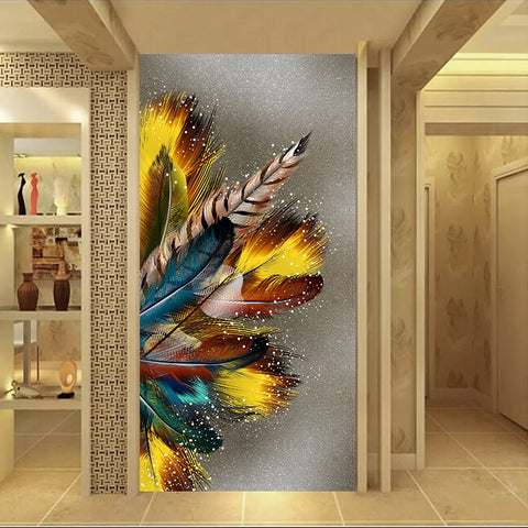 Epikkanvas Golden Feather Artwork For Your Home & Office Beauty