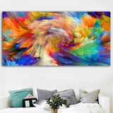1Pc Framed Colorful Rainbow Color Splash Canvas Art For Home & Office Decor - EpicKanvas