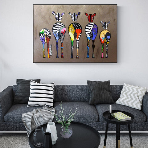 1Pc Abstract Zebra Canvas Art For Home & Office Decor