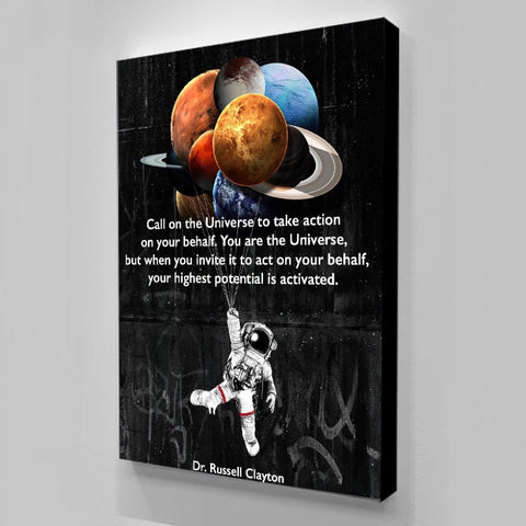 1Pc Space Astronaut Canvas Art For Home & Office Wall Decor - EpicKanvas
