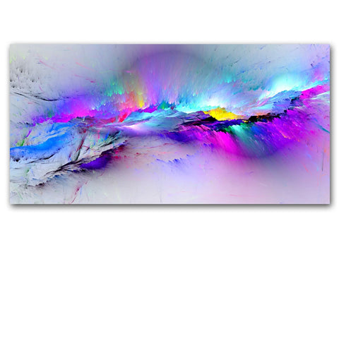 Epikkanvas Framed Colorful Clouds Abstract Painting Wall Art For Your Home & Office Beauty