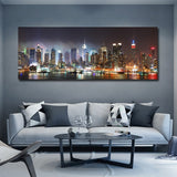 1Pc Framed Beautiful City Night Scene Canvas Art For Home & Office Decor - EpicKanvas