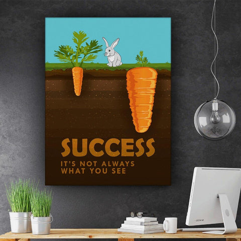 1 Piece Rabbit Carrot Success Analogy Canvas Art
