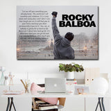 1Pc Framed Rocky Balboa Boxing Champion Life Lesson Championship Wall Art Canvas For Home & Office Decor - EpicKanvas