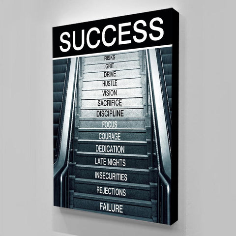 1Pc Success Secret Stairs Abstract Wall Art For Home & Office Wall Decor - EpicKanvas
