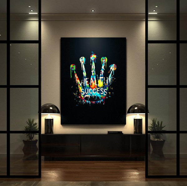 1 Piece Framed Canvas Rolex Royal Success Dreams Artwork For Home & Office Decor - EpicKanvas