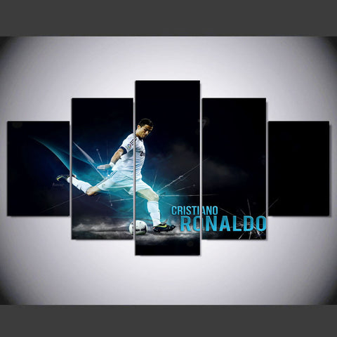 Ronaldo Soccer Player - 5 piece Canvas Artwork - EpicKanvas