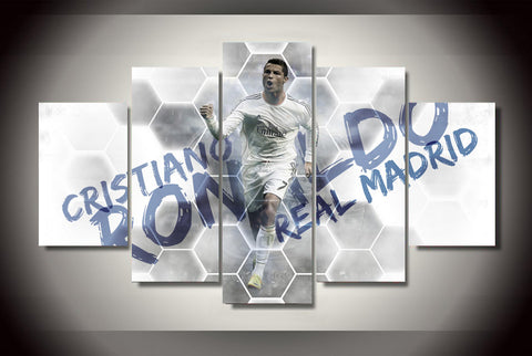 5 piece Canvas Artwork Best Ronaldo Soccer Player