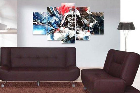 Painting Dark Vader - 5 Piece Canvas