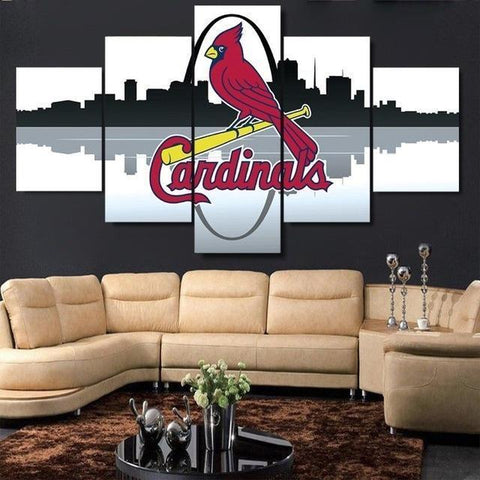 5 Piece Canvas St. Louis Cardinals Baseball Wall Art - EpicKanvas