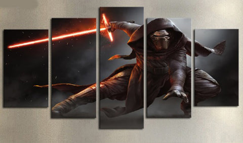 Framed Star Wars Canvas Warrior Dark Side - 5 Piece Canvas