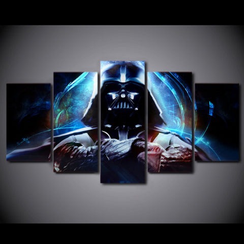 Framed Darth Vader Canvas Star Wars - 5 Piece Canvas
