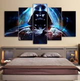 Framed Darth Vader Canvas Star Wars - 5 Piece Canvas - EpicKanvas