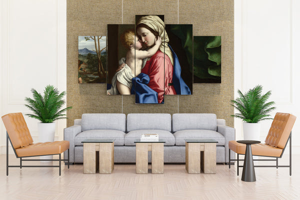 The Holy Mother Baby Jesus Catholic Religion - 5 piece Canvas