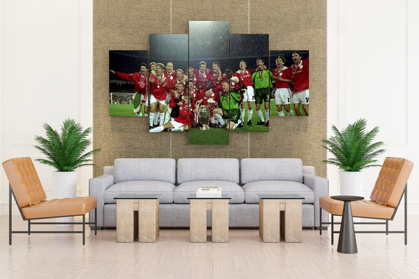 Football Players - 5 piece Canvas