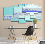 5 piece Multi Color Cloud Canvas For Home & Office Decor - EpicKanvas