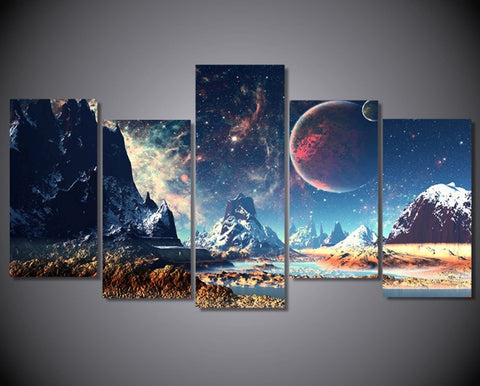 Epikkanvas Empowered Living 5-Piece, Framed Wushan Star Lake Canvas Art Print For Your Home/Office Room - EpicKanvas