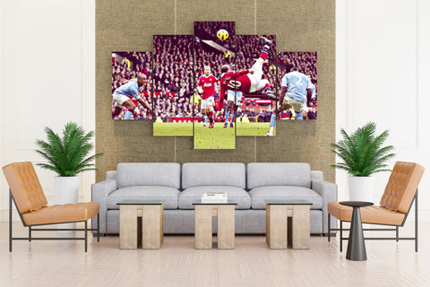 Yunaydet Manchester Rooney Football - 5 piece Canvas