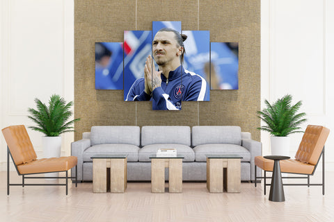Zlatan Ibrahimovic (Swedish Footballer) - 5 piece Canvas