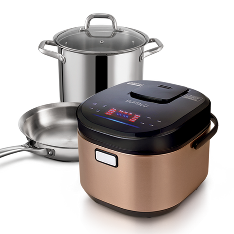 1.8L IH Smart Cooker + 24cm Pot with Glass Lid +24cm Pan