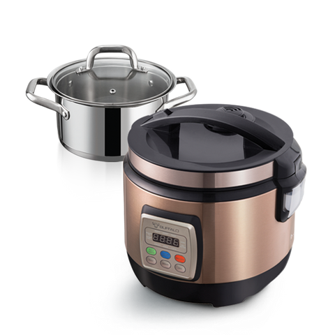 1.8L Multifunction Rice Cooker + 20cm Pot with Glass Lid