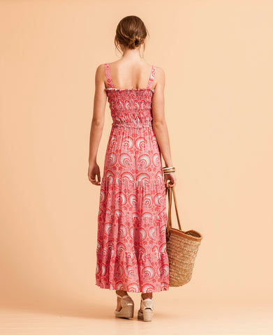 Harbour Island Maxi Dress - Pink Indian Paisley