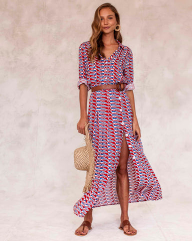 Olivier Shirt Dress - Geometric