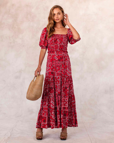 Rinella Dress - Red Bandanna