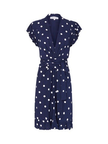 Marais Dress - Navy & White Dot