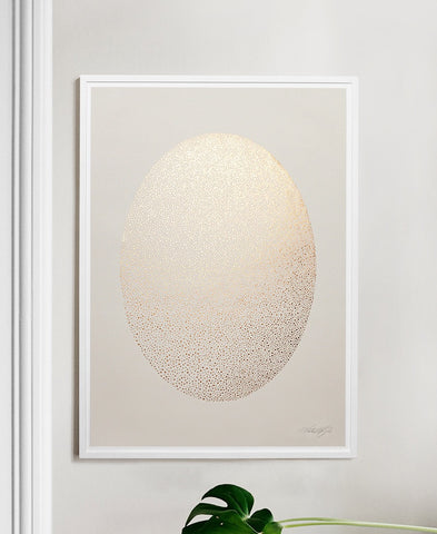 Ellipse, Beige and Copper, art print by Kristina Krogh available at NABO shop