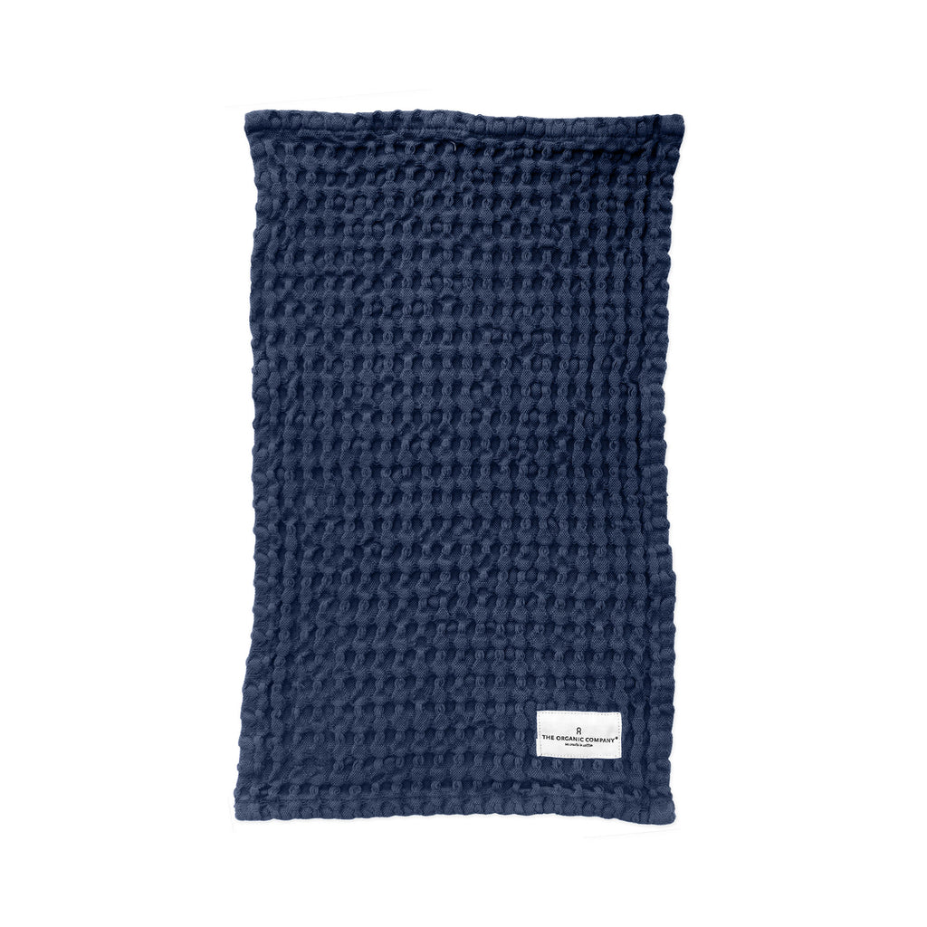 Waffle Kitchen & Wash Cloth, Blue
