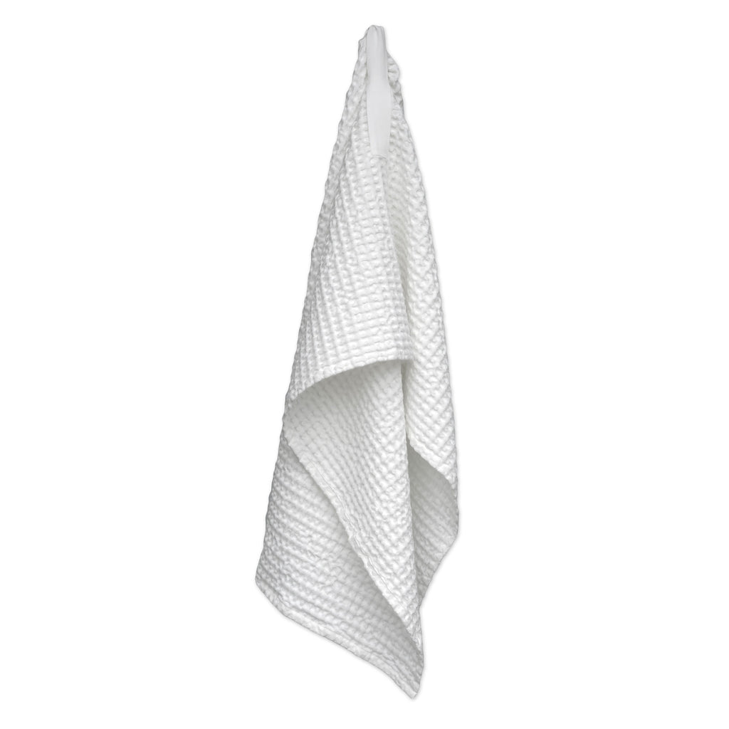 Medium Waffle Towel, Natural White