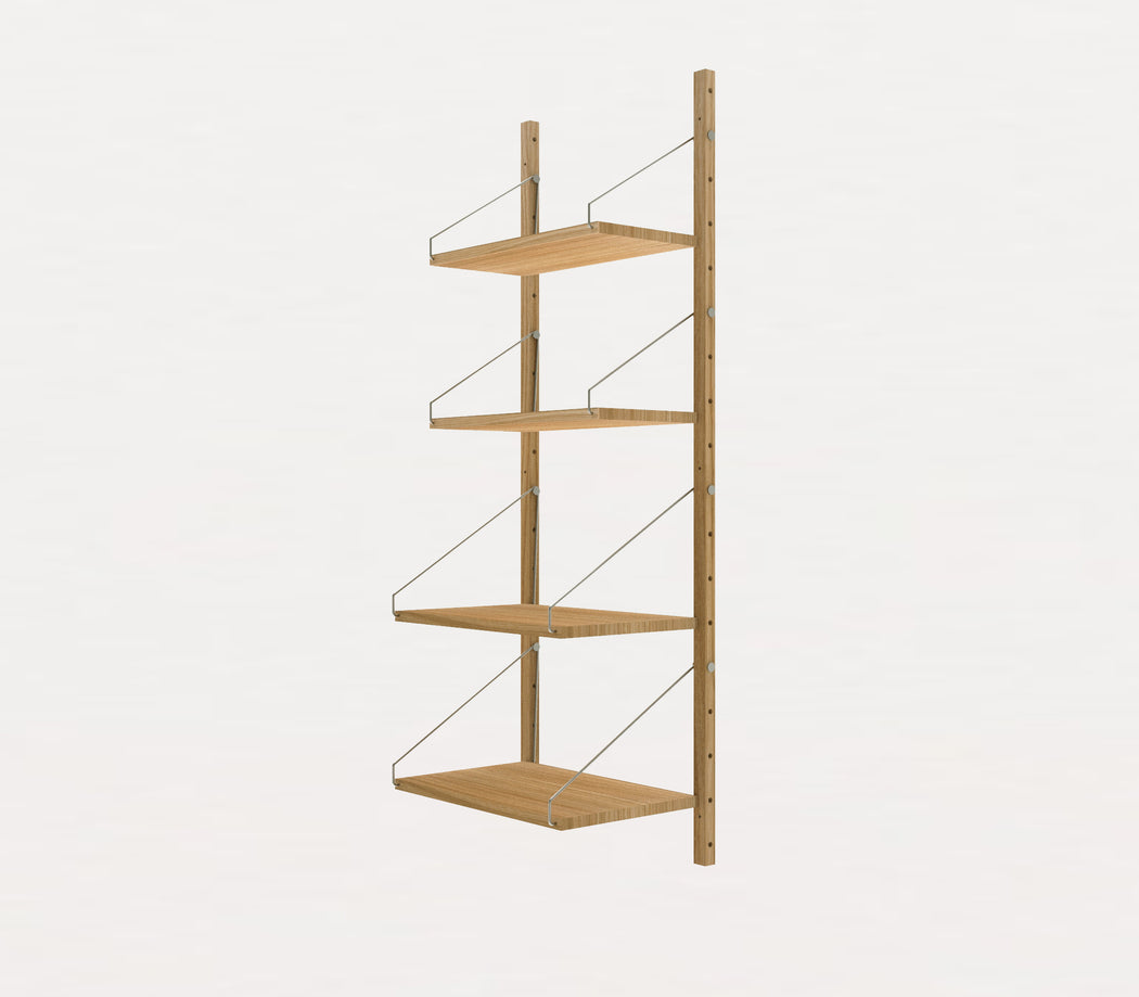 Shelf Library Natural/Steel