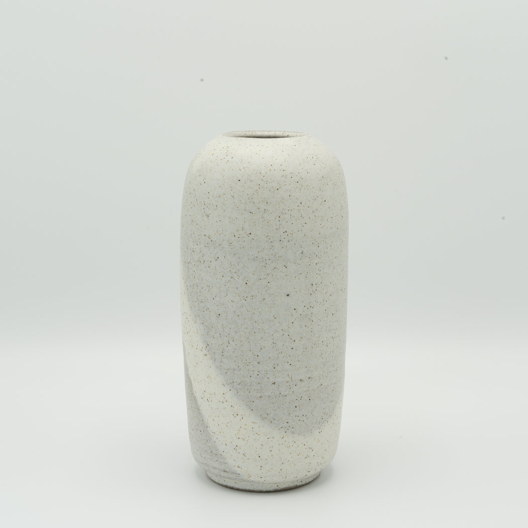 Cylinder Vase no 02 | Grey/White