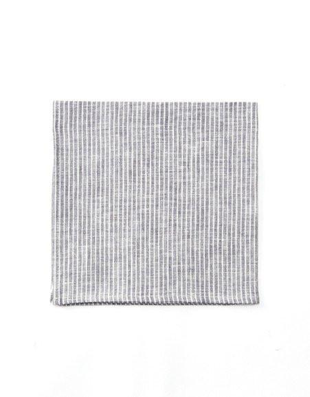 Linen Napkin | Grey & White