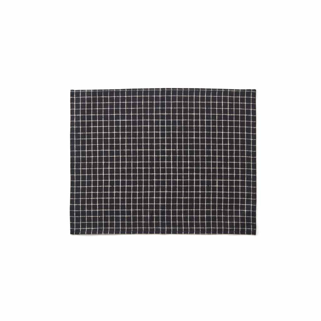 Linen Place Mat | Black & white