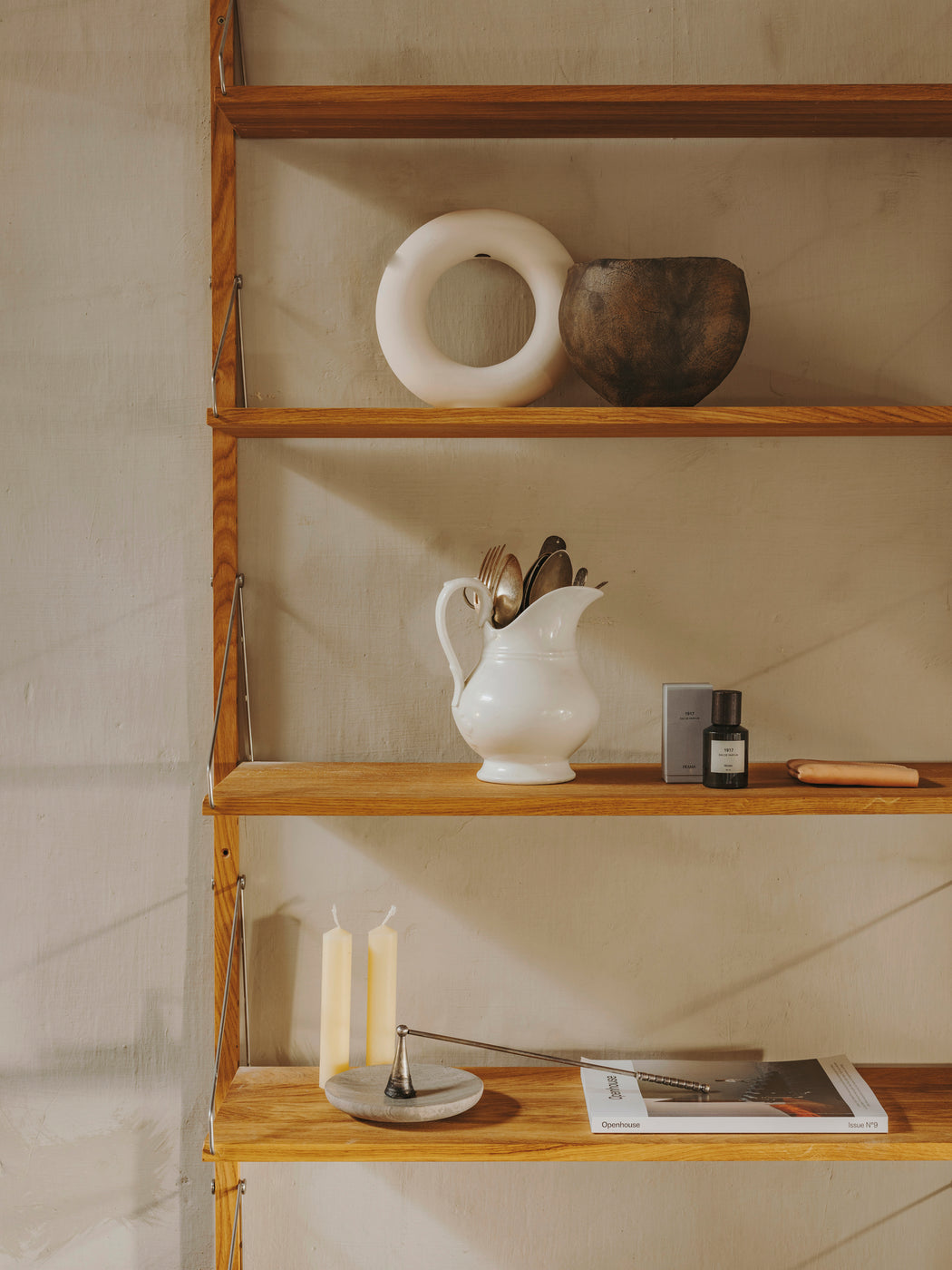 Shelf Library | Natural/Steel