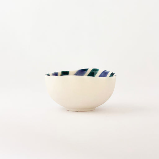 Treasure Bowl - Bluish Lines