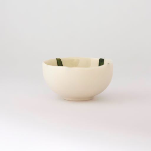 Treasure Bowl - Green Lines