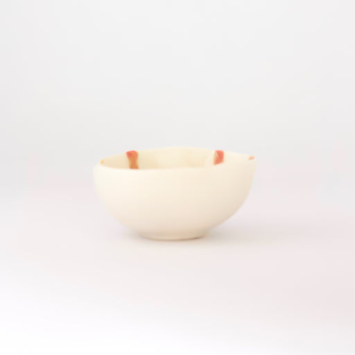 Treasure Bowl - Orange & Pink Lines