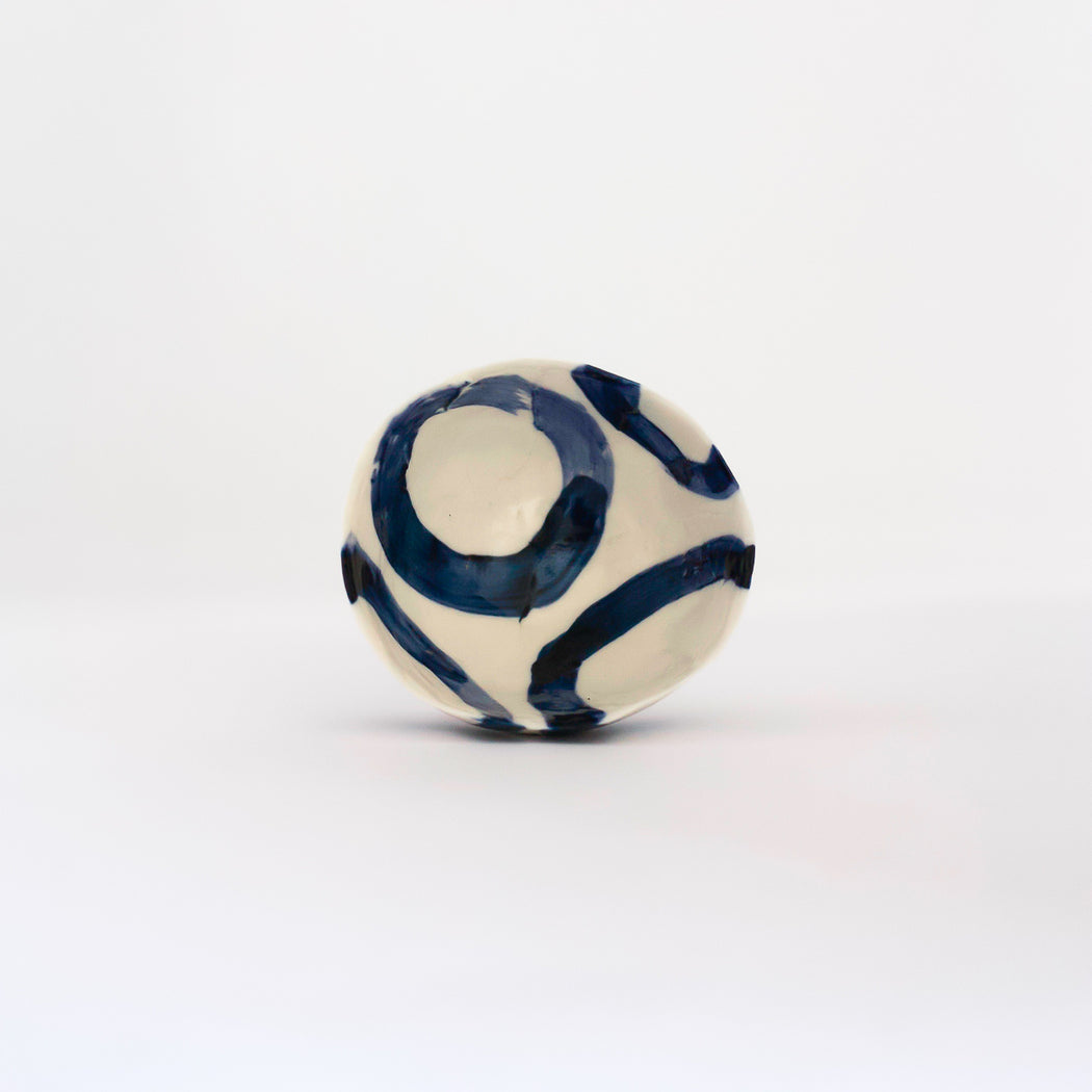 Treasure Bowl - Blue Thick Lines