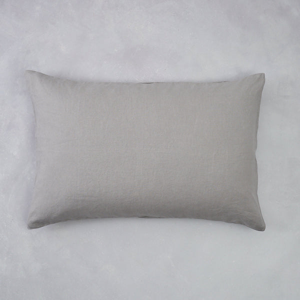 2 Linen Pillow Cases | Smoke