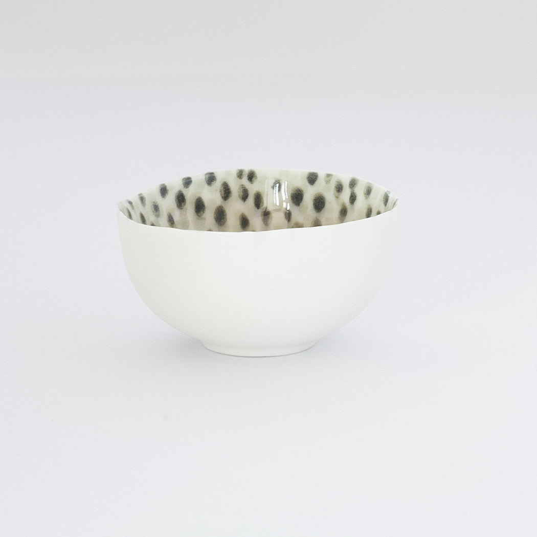 Treasure Bowl - Green Dots