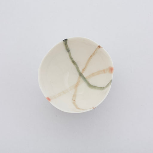 Treasure Bowl - Green & Pink Lines