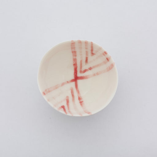 Treasure Bowl - Pale Red Lines