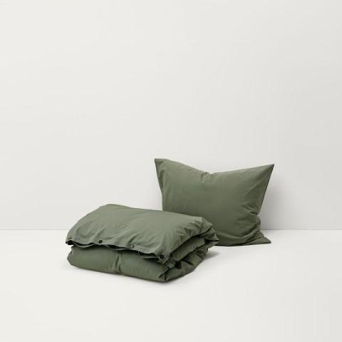 Olive Green Cotton Percale Bedding