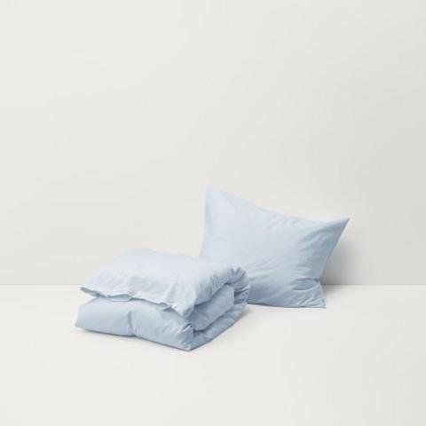 Sky Blue Cotton Percale Bedding