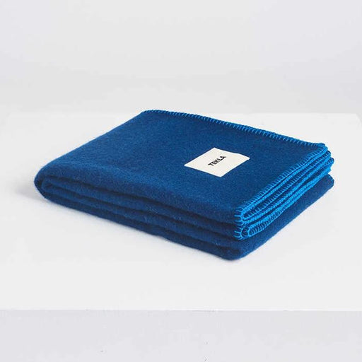 New Pure Wool Blanket | Electric Blue