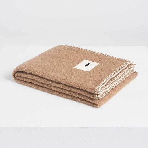 New Pure Wool Blanket | Hazel Brown